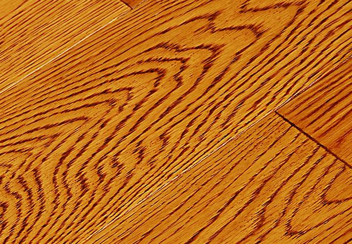 新康宜 实木地板 栎木(橡木)仿古拉丝 宽板