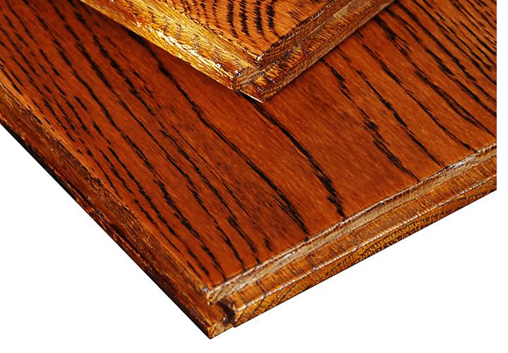 新康宜 实木地板 栎木(橡木)仿古手抓纹 宽板