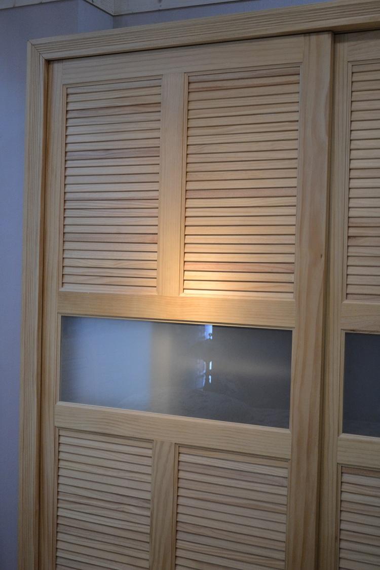 环保松木 全实木 卧房卧室四件套 床移门衣柜床头柜