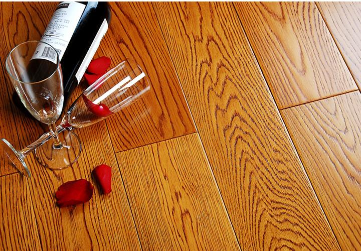 实木地板 栎木(橡木)仿古拉丝