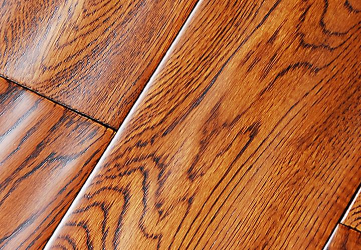 实木地板 栎木(橡木)仿古手抓纹