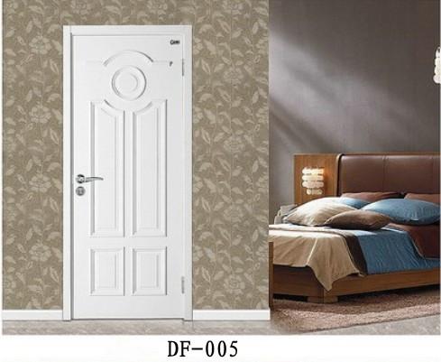 白色典雅烤漆门 pvc 卧室门